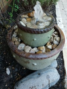 DIY Flower Pot Water Fountain