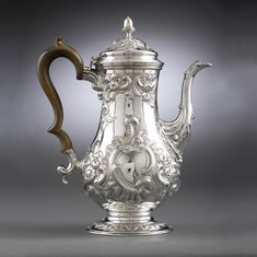 Hester Bateman Georgian Silver Coffee Pot  Hester Bateman was an English silversmith who learned the craft while working alongside her husband. Upon his death in 1760, she inherited his tools and spent the next 30 years building her business and mastering her craft. She is recognized as one of the finest among Georgian silversmiths.  England, 1780 - See more at…