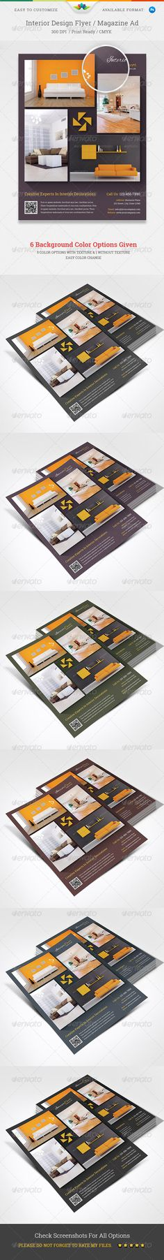 Interior Design Flyer / Magazine Ad — Photoshop PSD #luxurious #corporate • Available here → https://graphicriver.net/item/interior-design-flyer-magazine-ad-/5456672?ref=pxcr