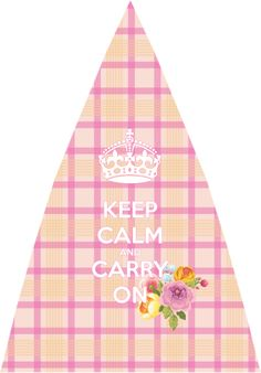 Artilda umbrella, new design, check pattern umbrella, pink , keep calm and carry on!