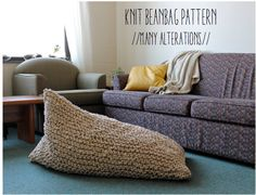 Knit Bean Bag Pattern // Instant Download // by greatnorthknit, $6.00