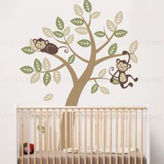 Tree Wall Decal with Monkeys