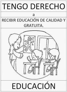 tareitas: DERECHO A LA EDUCACION Middle School Spanish, Science Topics, English Activities, Kids Education, Teaching English, Human Rights, Bullying, Coloring Pages, Kindergarten