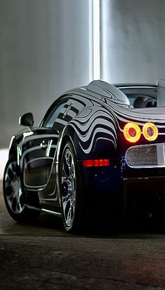 Beautiful view of a Bugatti