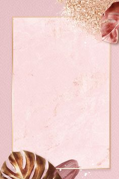 Rose Gold Wallpaper, Flowery Wallpaper, Framed Wallpaper, Flower Background Wallpaper, Cute Wallpaper Backgrounds, Flower Backgrounds, Cute Wallpapers, Pink Glitter Background, Pastel Background