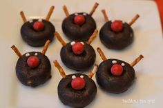 Rudolph Donuts at a Christmas Party #christmas #donuts