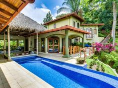 Luxury Mountain Estate With Many Monkeys Ocean View Pool Gated Maids AC - Hermosa Hills Surfboard, Swimming Pools, Surfing, Ocean, Mansions, Luxury, House Styles, 7 Minutes, Costa Rica