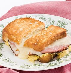 Decadent and delicious croque monsieur with ham and Gruyere cheese. A weekend classic!