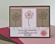 Stampin Up Faith In Nature Stamp Set