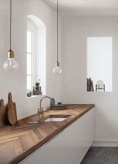 3 Kitchen Countertop Trends And 25 Examples - interior design ideas - Cosy Home - Decoration Elegant Home Decor, Kitchen Interior, Kitchen Design Small, Kitchen Furniture, Kitchen Countertop Trends, Kitchen Trends, Modern Interior Design, Minimalist Kitchen, Kitchen Design