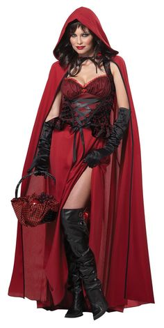 Find sexy Halloween costumes for women, men, and plus-size right here! Shop our selection for the best sexy Halloween costume ideas around! A revealing, sexy costume is sure to make your Halloween or cosplay event a memorable one. Costume Halloween, Little Red Riding Hood Halloween Costume, Red Riding Hood Costume, Red Costume, Costume Dress, Adult Halloween, Halloween Makeup, Women Halloween, Cosplay Dress