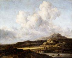 Ensoleillé Paysage - (Jacob Isaakszoon Van Ruisdael (Ruysdael))