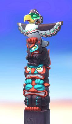 Totem by Ekaterina Frolova, via Behance
