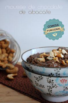 Mousse de chocolate (com abacate) funcional