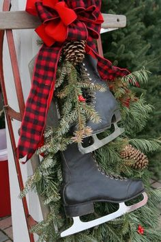 Top 40 Sleigh/ Sled Decoration Ideas For Christmas Christmas Celebrations                                                                                                                                                      More