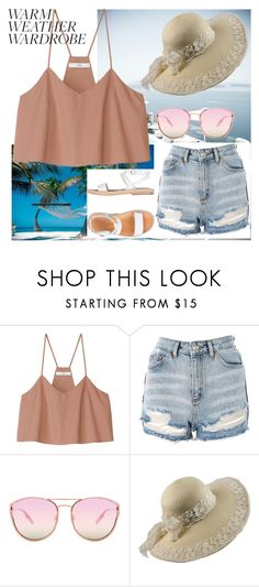 """""""#heatwave"""" by lejla150 ❤ liked on Polyvore featuring TIBI, Topshop, Quay, n.d.c. and heatwave"""