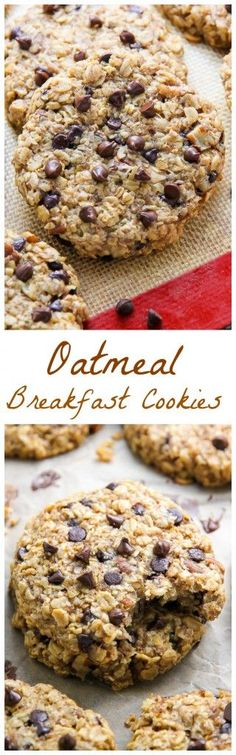 Healthy Snacks For Kids Cookies that taste like banana bread AND are healthy enough for breakfast! - Healthy banana bread breakfast cookies loaded with mini-chocolate chips and walnuts! Oatmeal Breakfast Cookies, Breakfast Bars, Breakfast For Kids, Breakfast Recipes, Breakfast Healthy, Breakfast Ideas, Banana Breakfast, Mexican Breakfast, Breakfast Sandwiches