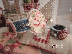 dulces pilukas: Bisutería Textil combinada con Botones de Arcilla