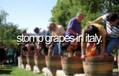 the feel the grapes inbetween your toes. There's something that's very inspiring about that.