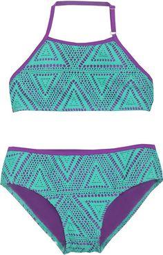 Girls High Neck Bikini Set