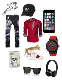 Untitled #1 by hdhocq on Polyvore featuring polyvore, Gucci, Lacoste, Yves Saint Laurent, Alexander McQueen, Off-White, adidas Originals, Beats by Dr. Dre, men's fashion, menswear and clothing