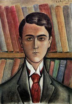 Retrato de Ronald de Carvalho 1921 | Vicente do Rego Monteiro óleo sobre tela 49.00 x 36.30 cm Coleção Museu de Arte Contemporânea da Universidade de São Paulo