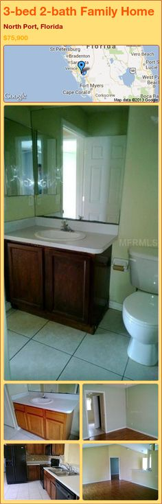 3-bed 2-bath Family Home in North Port, Florida ►$75,900 #PropertyForSale #RealEstate #Florida http://florida-magic.com/properties/14025-family-home-for-sale-in-north-port-florida-with-3-bedroom-2-bathroom
