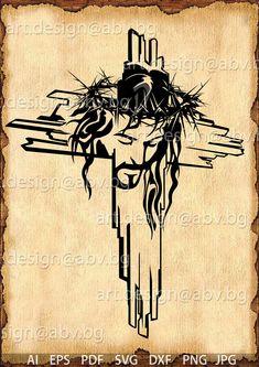 Heaven Tattoos, God Tattoos, Jesus Artwork, St Charbel, Jesus Drawings, Rose Tattoos For Women, Cross Pictures, Fire Image, Jesus Christ Images