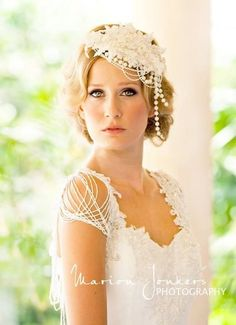 Headpiece & Gown by ALEKS BRIDAL