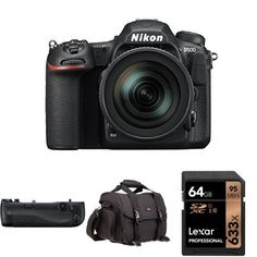 Nikon D500 DX-Format Digital SLR with 16-80mm ED VR Lens w/ Nikon MB-D17 Multi Battery Power Pack and Accessories