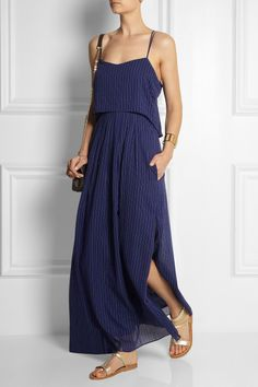 Band of Outsiders Chain-print voile maxi dress NET-A-PORTER.COM