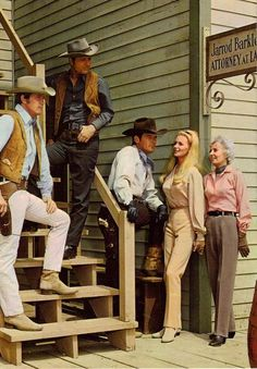 The Big Valley (from left to right; Heath, Jarrod, Nick, Audra and Victoria Barkley) My second favorite western.