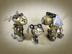 FAMILY OF WATCHDOGS - robot dog assemblage sculpture - Reclaim2Fame by Reclaim2Fame, via Flickr