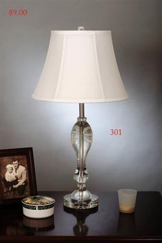 Crystal Metal Shade Bell Table Lamp