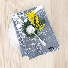 Saarni kitchen towel by Tanja Orsjoki
