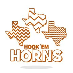 Texas Longhorns Chevron Pattern Horns SVG DXF Vector by SVGTREE, $5.00