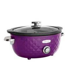 Loving this Purple Diamond 6-Qt. Slow Cooker on #zulily! #zulilyfinds