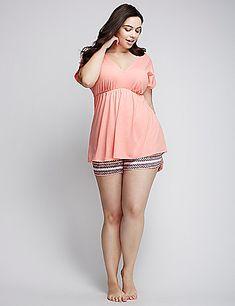 Plus size womens Pajama set