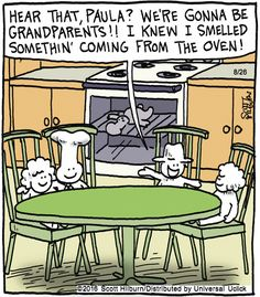 The Argyle Sweater found on gocomics.com on Friday, August 26, 2016 / Nothing says loving like something from the oven.