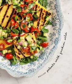 grilled polenta with zucchini salsa / http://loveandlemons.com