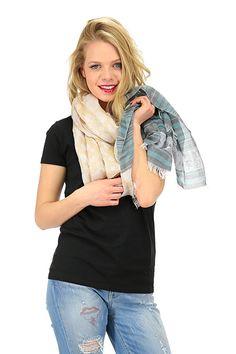 MANILA GRACE - Sciarpe - Abbigliamento - Sciarpa in cotone con frangia sui bordi. - MD174 - € 97.00