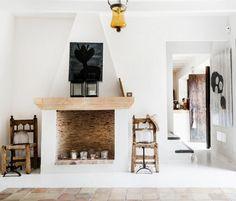 FASHION DESIGNER MALENE BIRGER'S HOME ON MAJORCA .. Lovin the neutrals, white, wood and art!