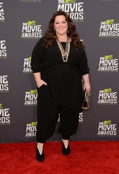 Fashion At The 2013 MTV Movie Awards Melissa McCarthy, I love you, I hate your pants.