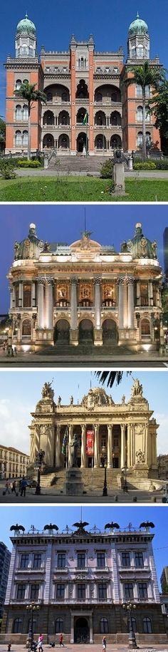 Palácio Manguinhos / Teatro Municipal / Palácio Tiradentes / Palácio do Catete - Rio de Janeiro