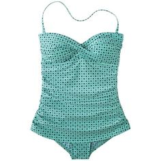 Clean Water Women's Polka Dot 1-Piece Swim Dress -Assorted Colors ($40) ❤ liked on Polyvore