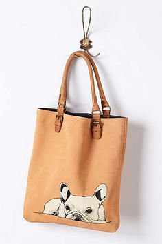 Anthropologie - French Bulldog Tote