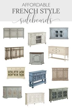 Looking for an affordable French farmhouse buffet or sidebaord? You'll love this shopping guide of 30+ sidebards servers for your didning room decor!