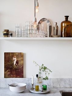 A vintage kitchen collection and display.