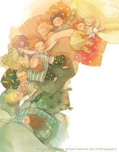 So lovely ^_^ Art And Illustration, Illustrations And Posters, Watercolor Illustration, Jm Barrie, Storyboard, Peter Pan, Cute Art, Illustrators, Book Art