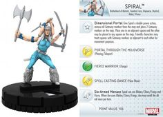Spiral #041 Wolverine and the X-Men Marvel Heroclix